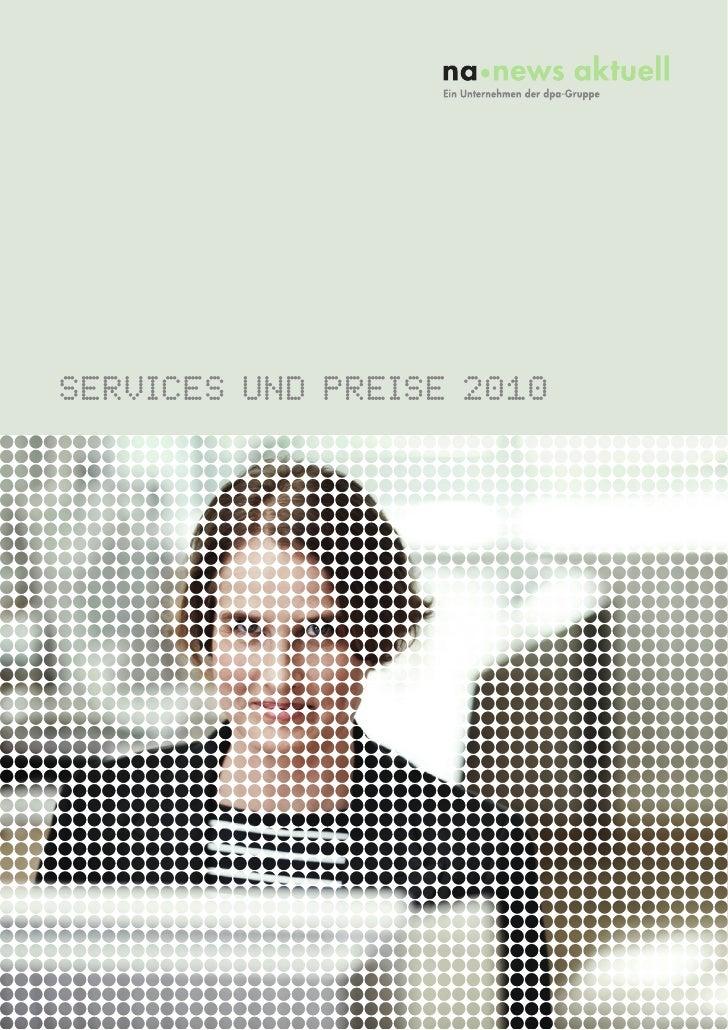 SERVICES UND PREISE 2010