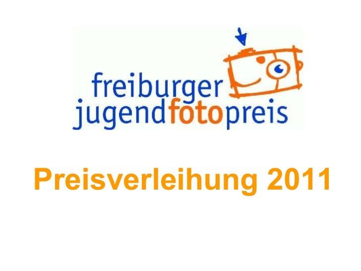 Preisverleihung 2011 Preisverleihung 2011