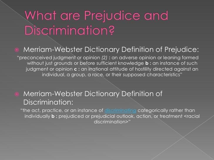 Definition of prejudice?