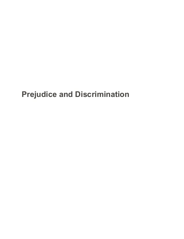 Prejudice essay outline