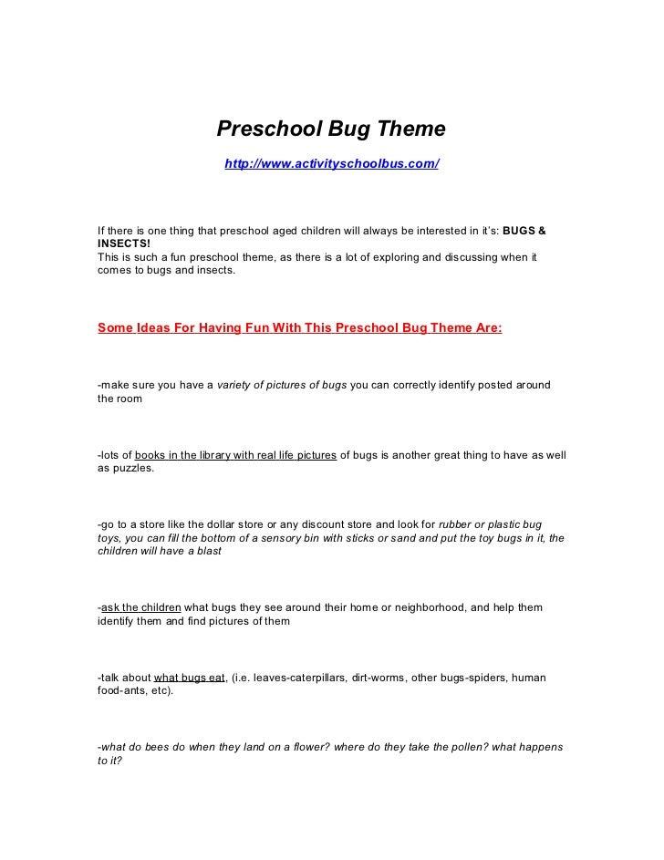 preschool bug lesson plans preschool lesson plan bugs amp insect theme lesson 811
