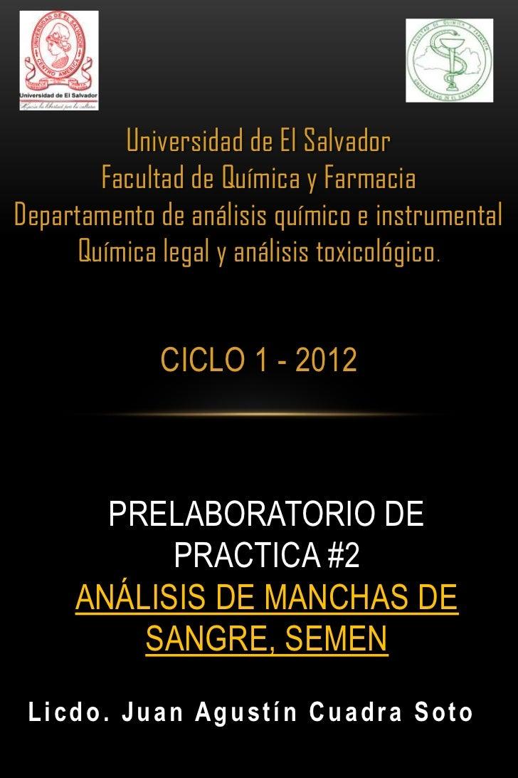 Universidad de El Salvador       Facultad de Química y FarmaciaDepartamento de análisis químico e instrumental     Química...