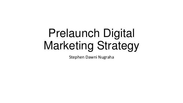 Prelaunch digital marketing example