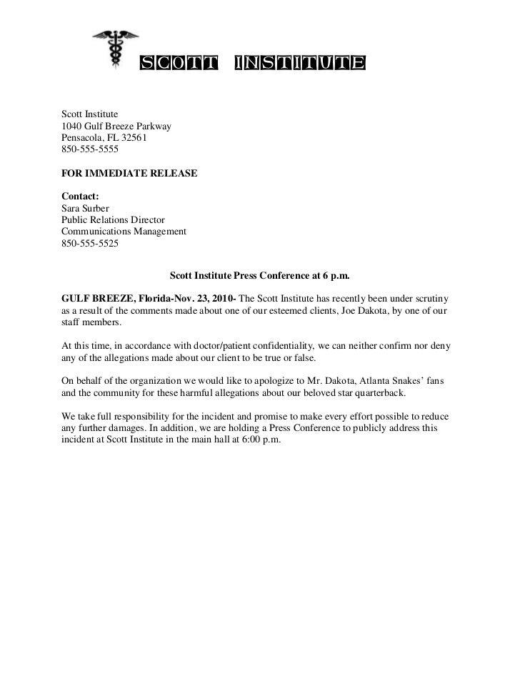 Press Release/ Sara Surber