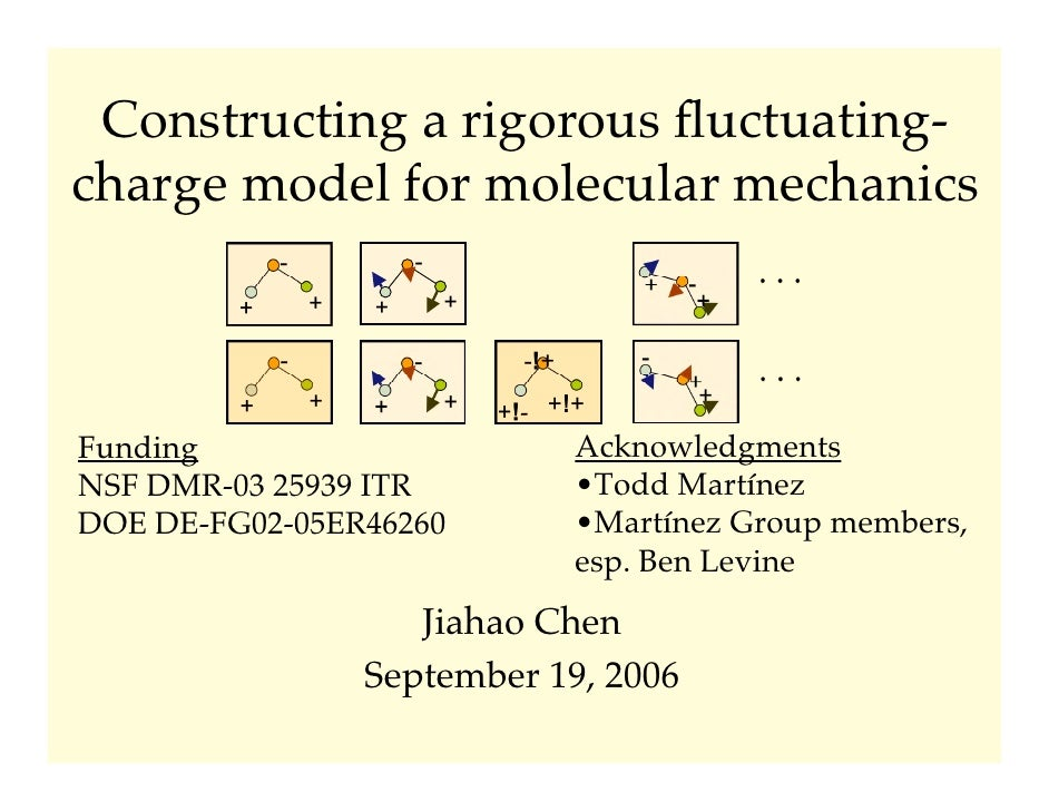 Constructing a rigorous fluctuating- charge model for molecular mechanics              -           -                       ...