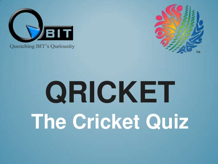 QricketThe Cricket Quiz<br />
