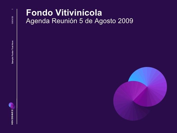 Fondo Vitivinícola Agenda Reunión 5 de Agosto 2009 08/04/09 Sample Footer Text Here