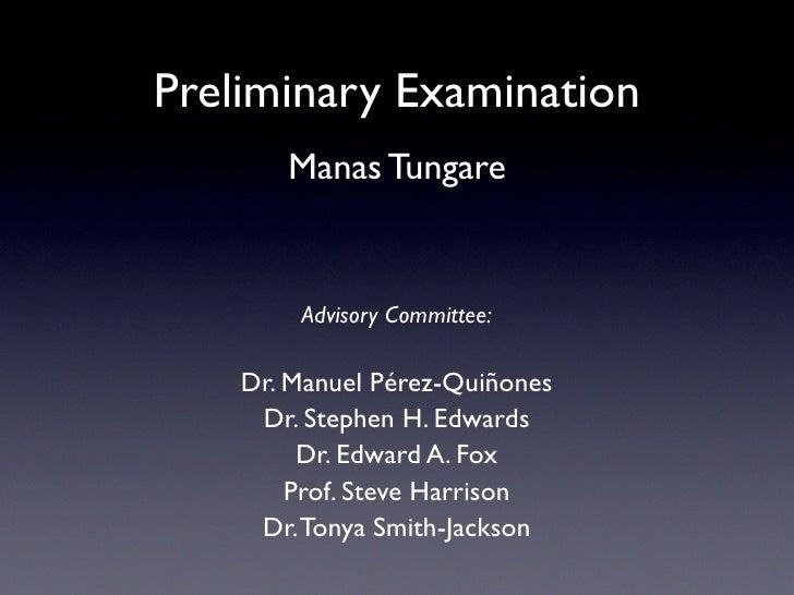 Preliminary Examination Proposal Slides