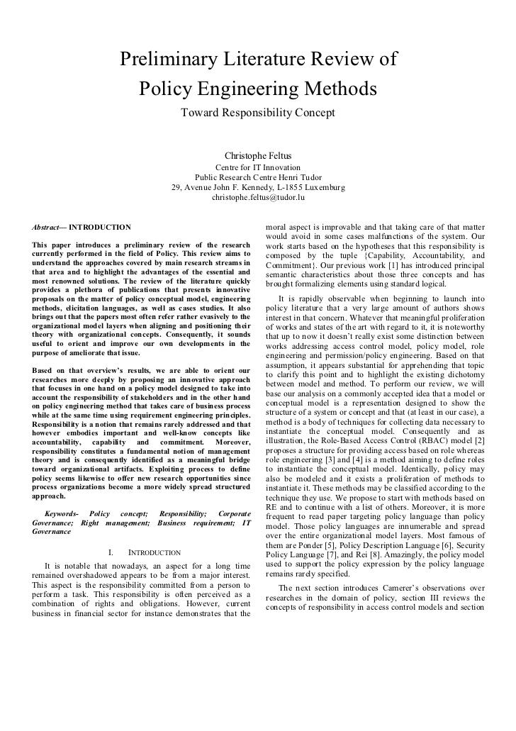 brief literature review example