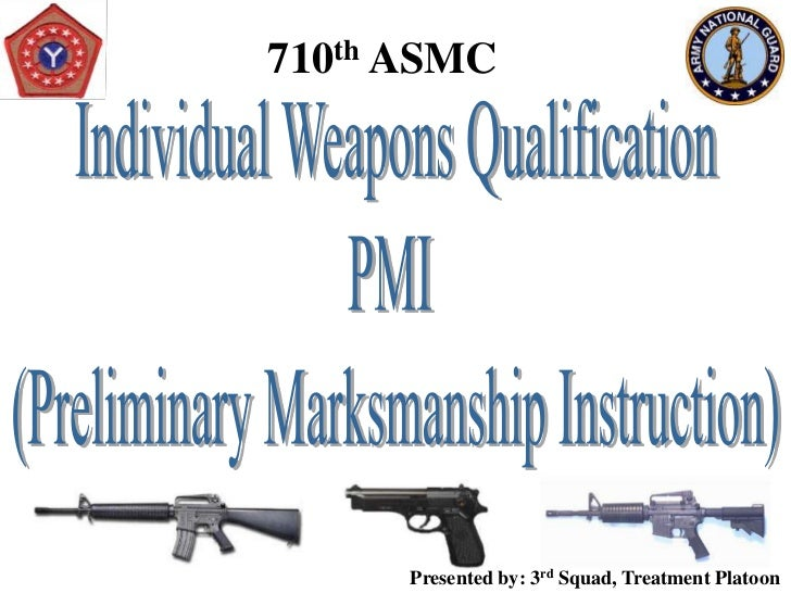 Preliminary Marksmanship Instruction