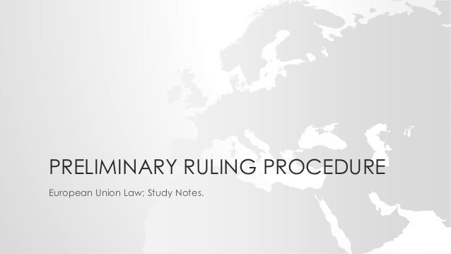 preliminary ruling eu law essay