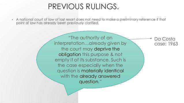 preliminary ruling procedure essay
