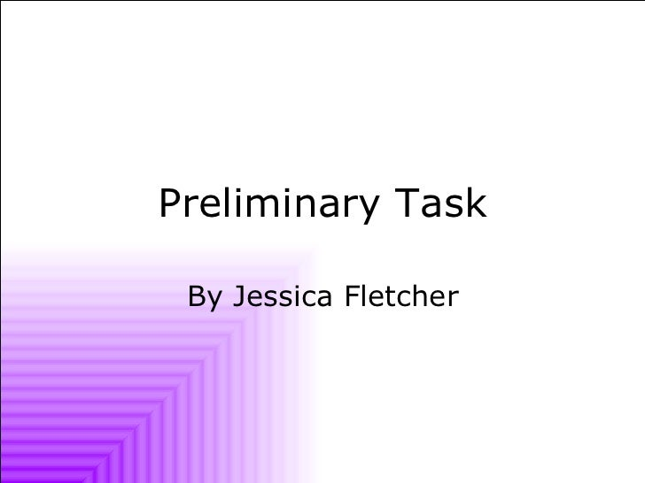 Preliminary Task By Jessica Fletcher