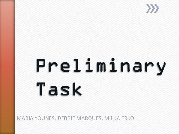 Preliminary task 14787957754