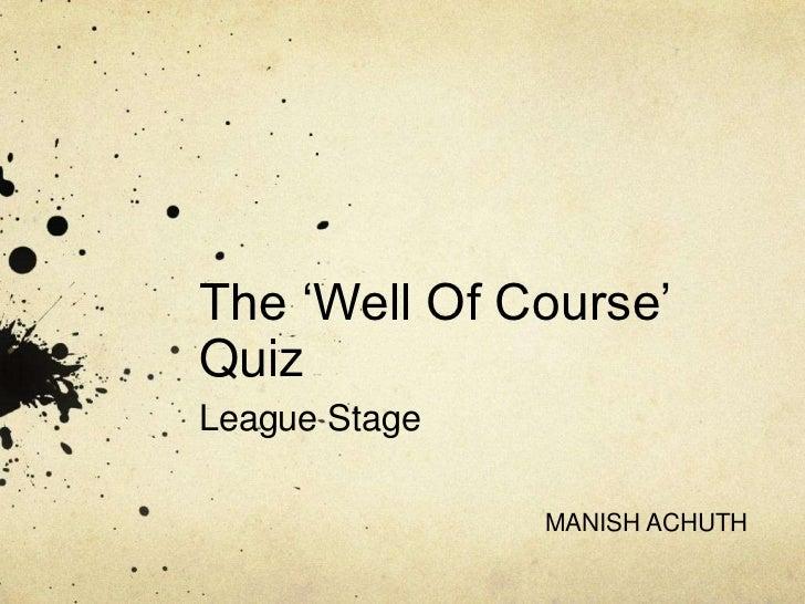KQA Cricket Quiz Prelims 2012