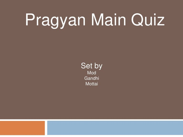 Pragyan main quiz answers