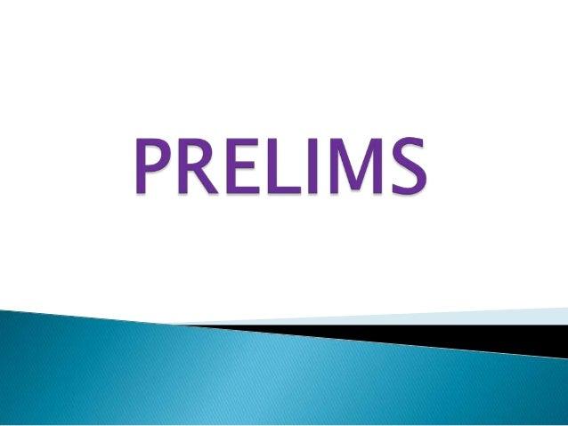 PHOENIX INTER COLLEGE QUIZ PRELIMS
