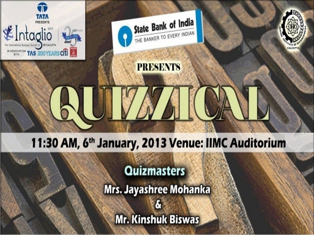 IIMC Intaglio 2013 Open Quiz Prelims