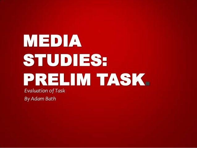 Prelim task presentation