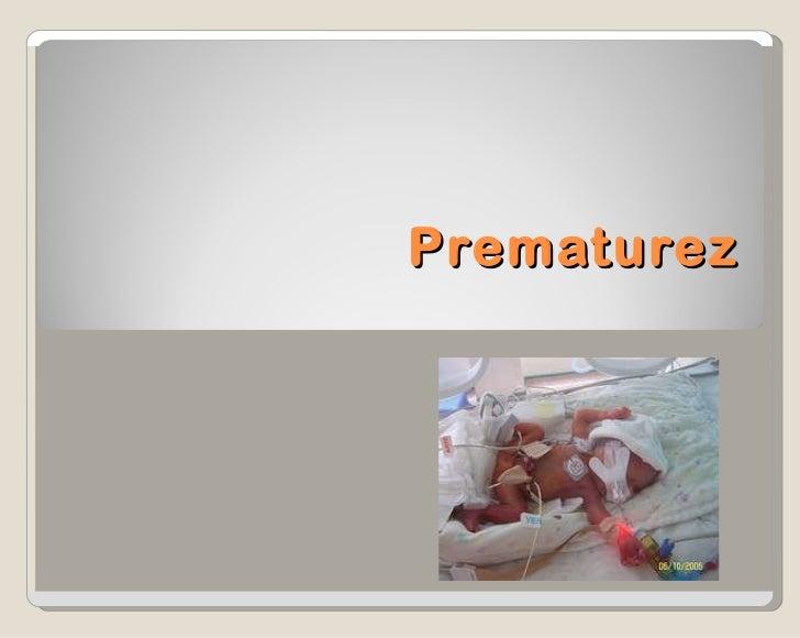Prematurez