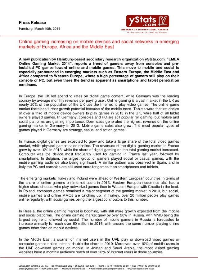 EMEA Online Gaming Market 2014