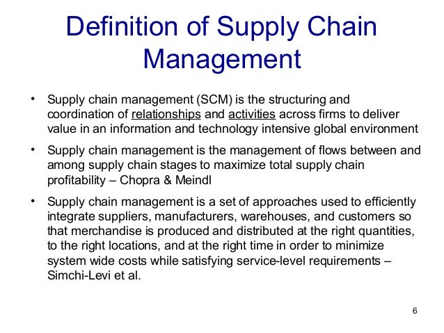 Logistics and Supply Chain Management argument research papers