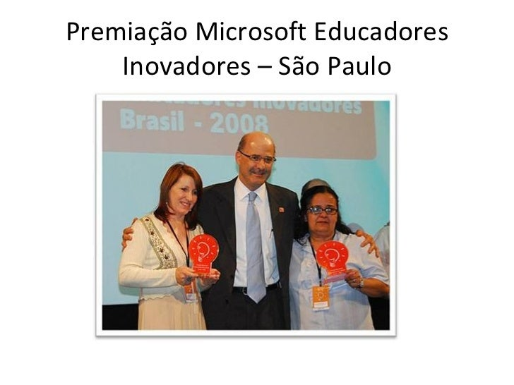 Premiação Microsoft Educadores Inovadores – São Paulo