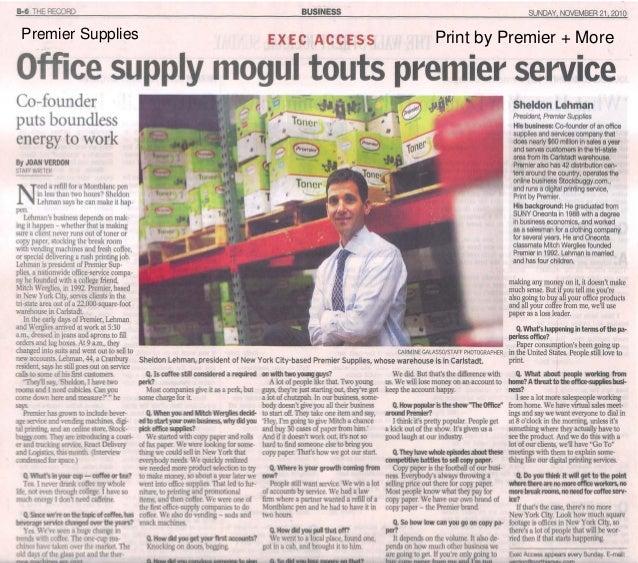 Print by Premier + MorePremier Supplies