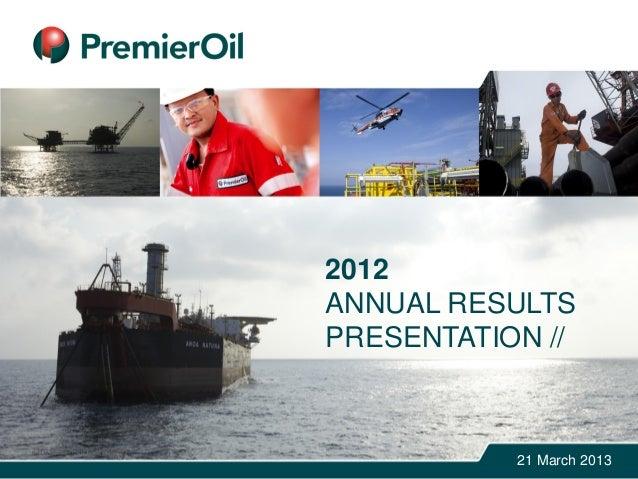 2012ANNUAL RESULTSPRESENTATION //21 March 2013