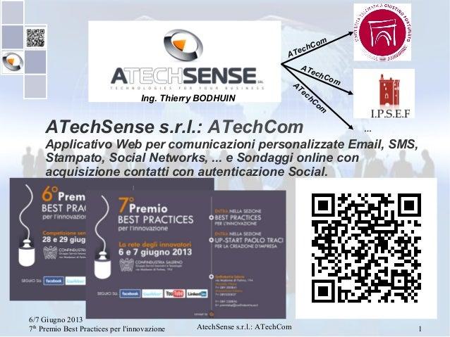 7°Premio Best Practices: ATechSense/ATechCom 4.3