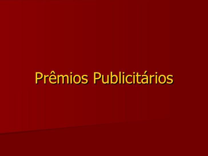 Prêmios Publicitários