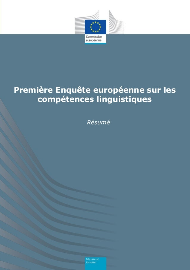 Résumé Première Enquête européenne sur les compétences linguistiques