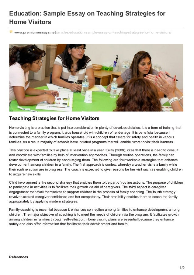 essay about teaching strategies Sample research paper the teaching strategies that would be most appropriate in ensuring the attainment of the learning objectives include active learning, collaborative learning, discussion among students, critical thinking regarding different aspects of the topic, simulations, humor and scenario based learning.