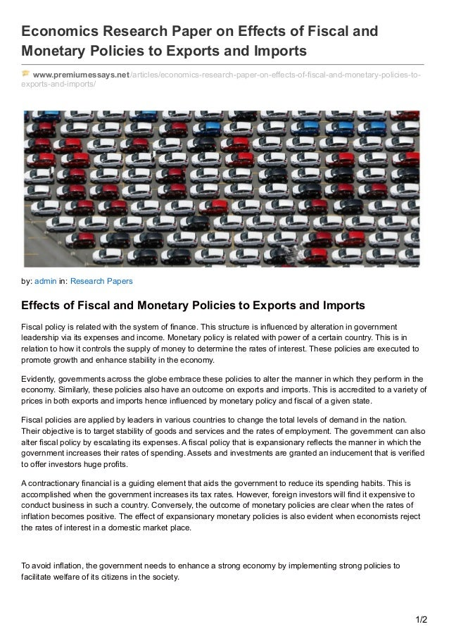 effectiveness of monetary policy essay Monetary policy operation monetary policy is the movement of a central bank, currency board or other regulatory committee that determine the economic target and use techniques to control the monetary supply and interest rate (harry g johnson.