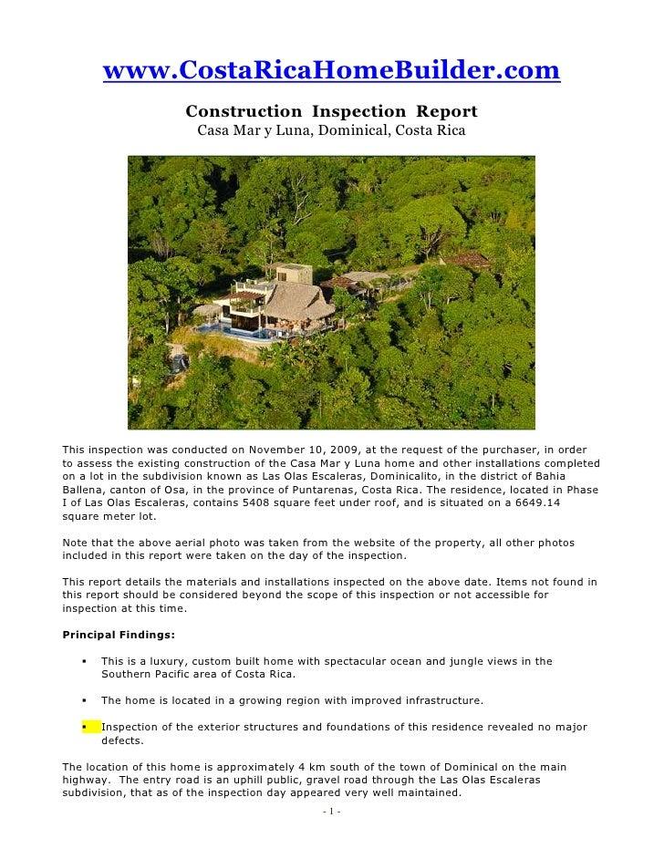 Premium Inspection Report