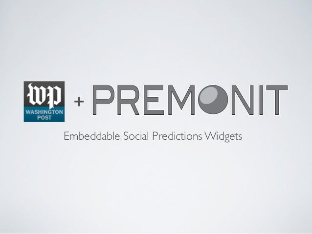 +Embeddable Social Predictions Widgets