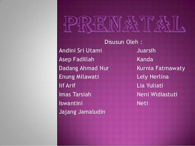 Prenatal presentation