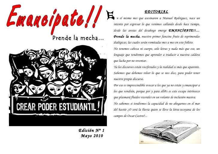 EDITORIAL                          n el mismo mes que asesinaron a Manuel Rodríguez, nace un                        intent...