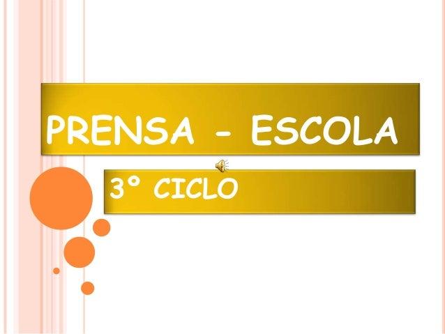 PRENSA - ESCOLA