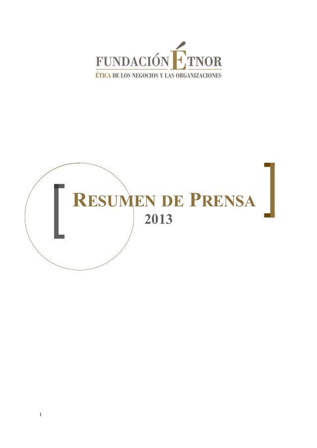 Resumen de Prensa 2013