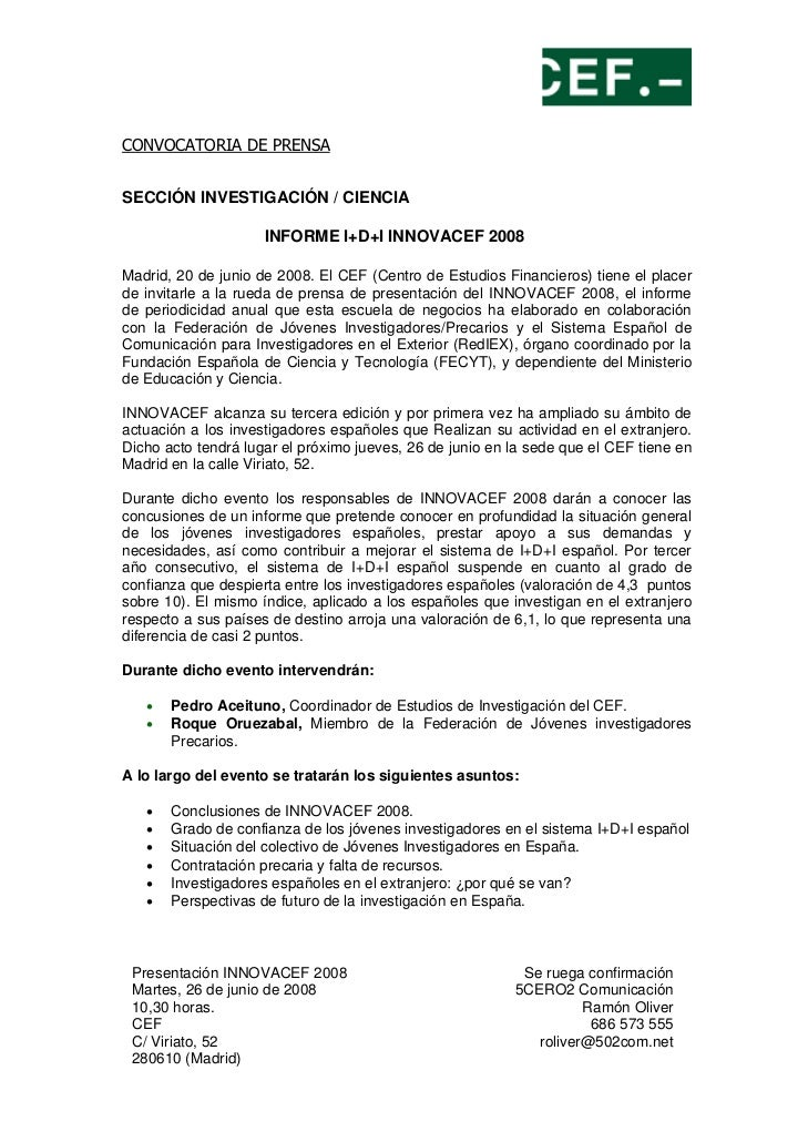 Prensa Innovacef 2008