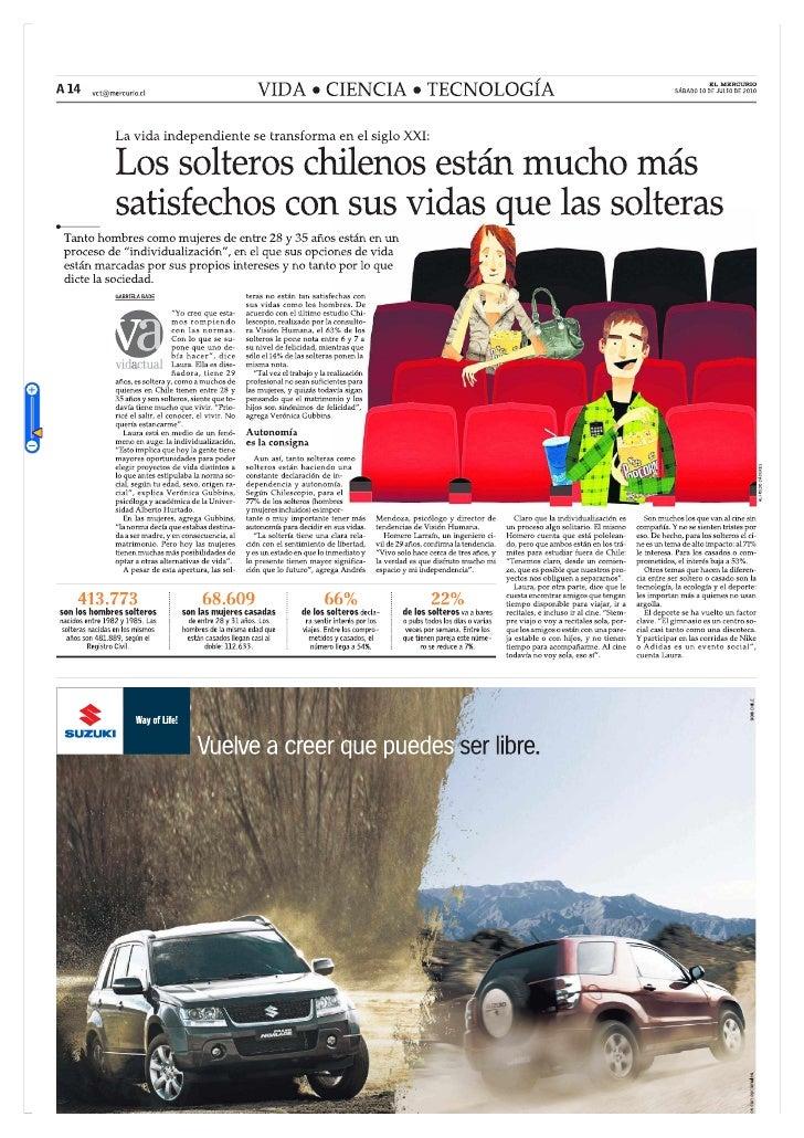 Prensa los solteros chilenos más satisfechos el mercurio