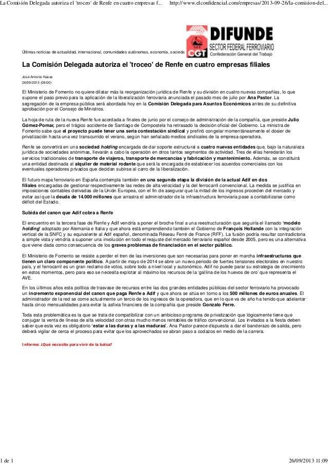 (Prensa) recortes de prensa 26 09-2013