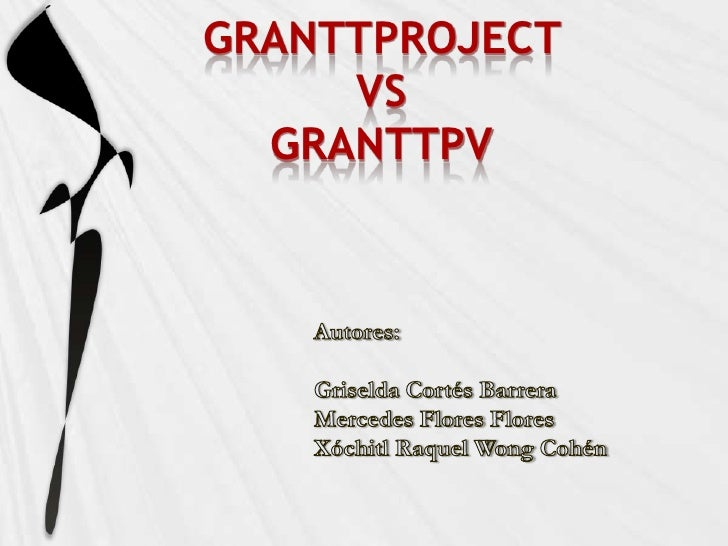 Prensentacion ganttproject & ganttpv