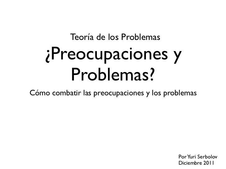 Teoría de los Problemas