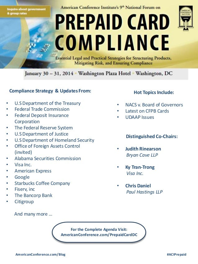 Compliance Strategy & Updates From:  • • • • • • • • • • • • • • •  U.S Department of the Treasury Federal Trade Commissio...
