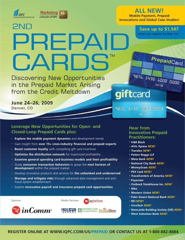 2ND Prepaid Cards