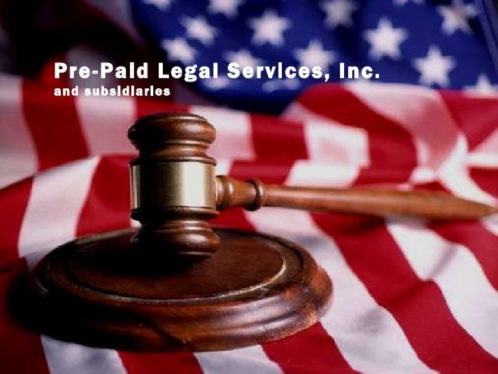 Prepaid Legal INC,  Power Point Presentation