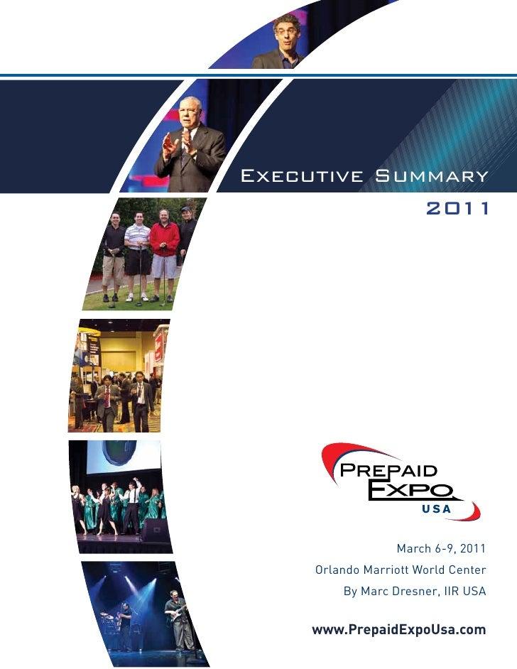 www.PrepaidExpoUsa.comExecutive SummaryExecutive Summary             2011              2011    Executive Summary 2011     ...