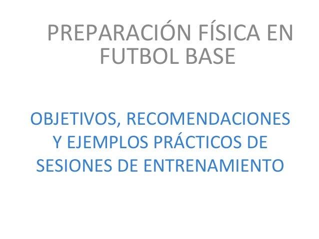 Preparación física en el fútbol base
